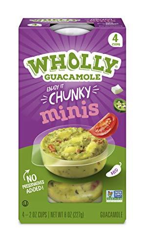 Wholly Guacamole, Homestyle Guacamole Minis (4 Cups), 8 Oz