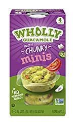 Wholly Guacamole, Homestyle Guacamole Minis (4 Cups), 8 Oz
