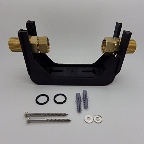 Wasserzähler-Anschlussgarnitur aus Polymer-Kunststoff 1 x 1 Zoll Steigrohr