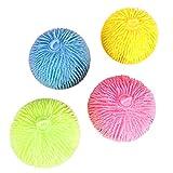 Chilits 1 unids gran rebote bola brillante juguete para niños suave elástico alivio del estrés apretando LED rebabas bola de dibujos animados juguete sensorial bola squashing ball