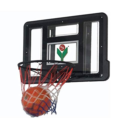 CHENXU Wall Mounted Basketball Hoop Set Teens Wall Mounted Basketball Board, Transparent Backboard, Backboard Net Set Hanging Basketball Hoop Outdoor Sport for Kids Basketball Practice(86x58cm)