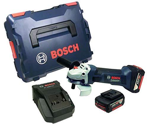 Bosch GWS 18-125 V Akku Winkelschleifer mit 2 x Akku 5 Ah + Ladegerät in L-Boxx