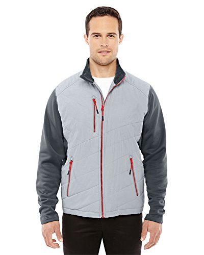 Ash City Quantum Interactive Hybrid Insulated Jacket (88809) -PLATNM/ CRBN -M