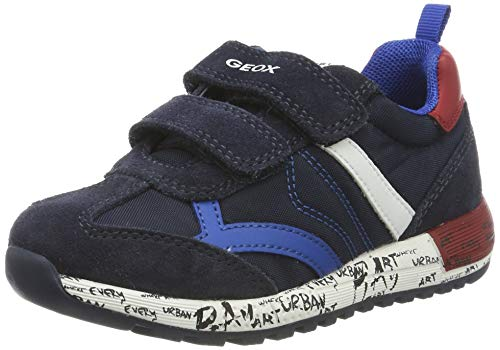 Geox B ALBEN Boy C, Zapatillas para Bebés, Azul (Navy/Dk Red C4244),...