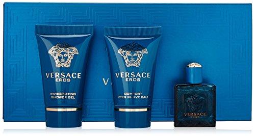 Versace Eros Geschenkset 5ml EDT + 25ml Duschgel + 25ml Aftershave Balsam