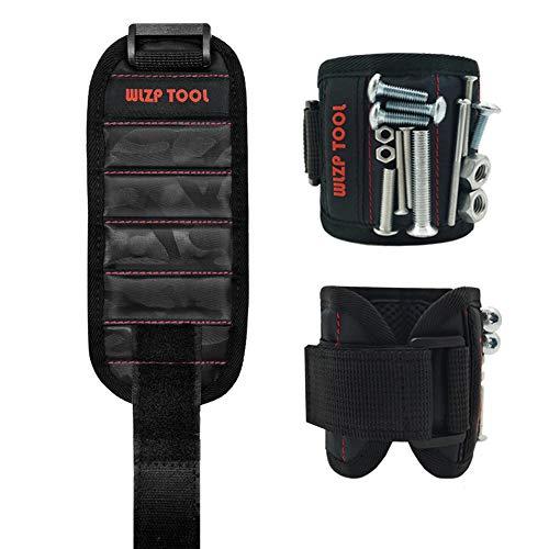 [2020 NEW] Wristband magnético con los imanes fuertes para los tornillos de la explotación agrícola, clavos, pedacitos de taladro - el mejor regalo de la herramienta para DIY Handyman