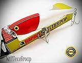 WillTexxGroup SSP-12 Red Head Skitter Pop Saltwater 12 Topwater Fishing Lure SSP12-RH for Fishing Bass Kayak Ice Saltwater Freshwater