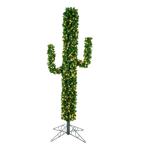 Vickerman Cactus Pine Artificial Unique Christmas-Trees, 7.5', Green