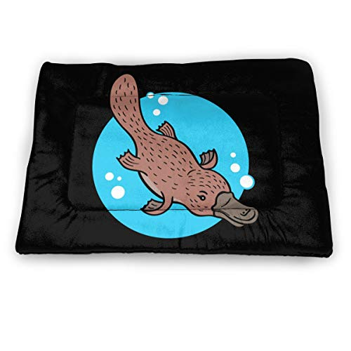 WENLONG HAT Platypus Cartoon Small Pet Mat Pet Pad Pet Bed Mat Pet Sleeping Mat Water-Resistant Thermal Throw Blanket for Dogs Cats