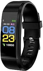 TrendzsMart ™ M3-ID115 Smart Band For Men/Women Fitness Health Activity Tracker Bluetooth Sports Bracelet Digital Watch Pedometer Wrist Alarm Call & SMS Alert BP/Sleep Monitor Heart Rate USB (BLACK)