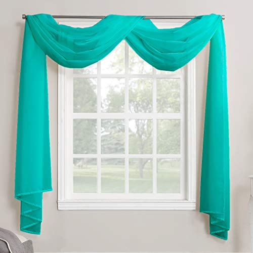 Megachest Mantovana per finestra in voile, 26 colori a scelta, Poliestere, Blu ottanio., 57'X197'(145cmX500cm)