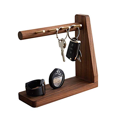 Crean 鍵かけ 鍵置き アクセサリースタンド 木製 トレー アクセサリー収納 腕時計収納 携帯置き 鍵収納 小物置き おしゃれ