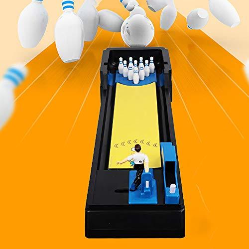 QJJML Kinder Mini Desktop Bowling Spielzeug Set,Tragbare Indoor-Lernspiele FüR Eltern Unterhaltung Interaktives Spielzeug FüR Eltern Und Kinder, Geeignet FüR Kinder Im Alter Von 2-10 Jahren