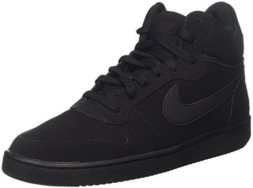 Nike Court Borough Mid, Zapatos de Baloncesto para Hombre, Negro (Black / Black), 45 EU