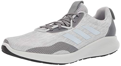 adidas Men's Purebounce+, Grey/Silver Metallic/Carbon, 7.5 M US