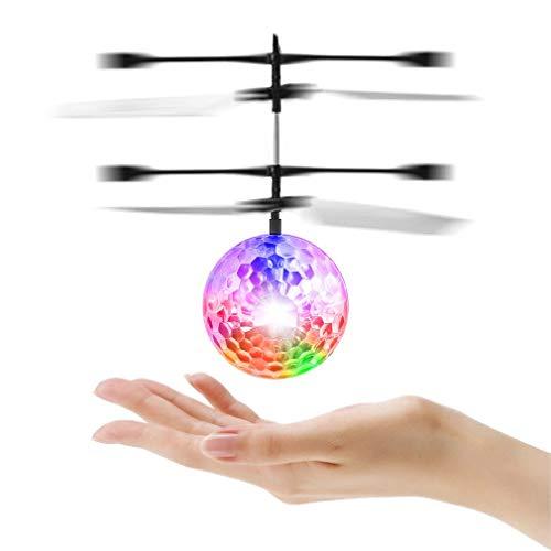 chaselpod RCフライングボール LEDヘリボール 子供のおもちゃ きらきら光る ライト 赤外線ヘリ 輝くボール 手の平で操作するボール型ヘリ (タイプ1)
