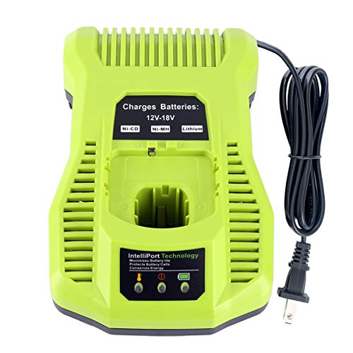 Epowon P117 One+ 18 Volt Dual Chemistry IntelliPort Li-ion and NiCad Battery Charger 12V-18V MAX for Ryobi ONE Plus P100 P101 P102 P105 P107 P108 P117 P122
