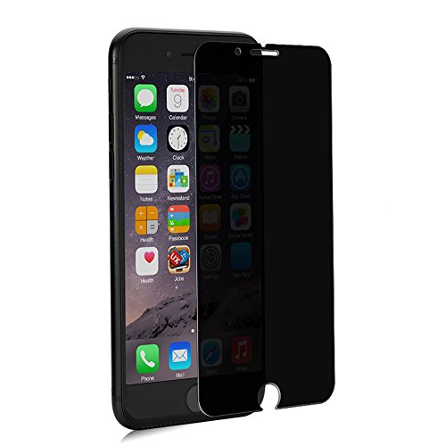 GLASS-M Privacy Screen Protector Compatible with iPhone 6, 6s, 7, 8, 180 Degree Anti-Spy, [Not Full Cover] Case Friendly Tempered Glass Screen Protector Film