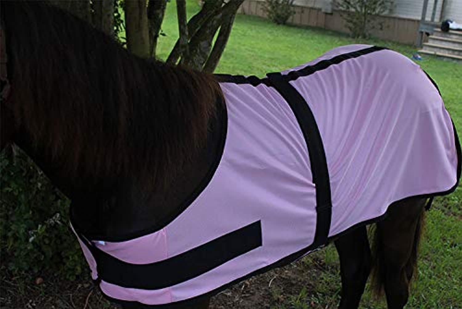 Challenger XL Miniature Weanling Donkey Pony Horse Foal Fly Sheet Mosquitoes Pink 51801