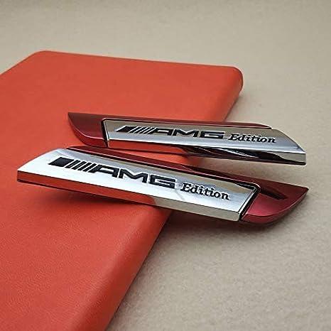 L U A Pair Metal Amg Edition Logo Badge Side Door Fender Car Emblem Sticker Decal Küche Haushalt