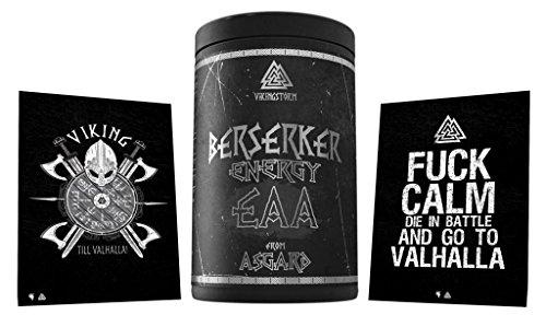 Limited Edition Berserker Energy EAA Essential Amino Acid Amino Acid Amino Acido Pura, 500 g, con due cartoline (Red Apple)