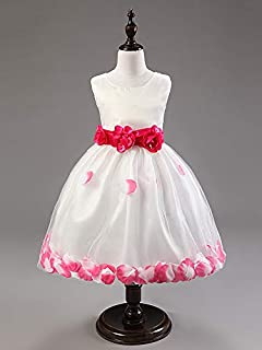Mixe Clr Pageant Flower Girls Princess Dress Kids Party Wedding Bridesmaid Tutu Dress 8 To 9 Year