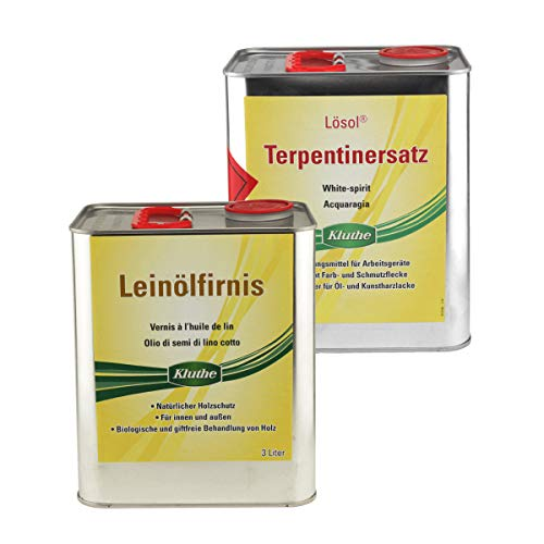 Set Kluthe 1 x Leinölfirnis 3 Liter + 1 x Lösol Terpentinersatz 3 Liter