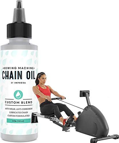 Impresa Rowing Machine Chain Oil Compatible with Concept 2, 4 Oz, Premium Custom-Formulation for Exercise Rower Chains, Compatible with Model D and Other Major Brands, Made in USA