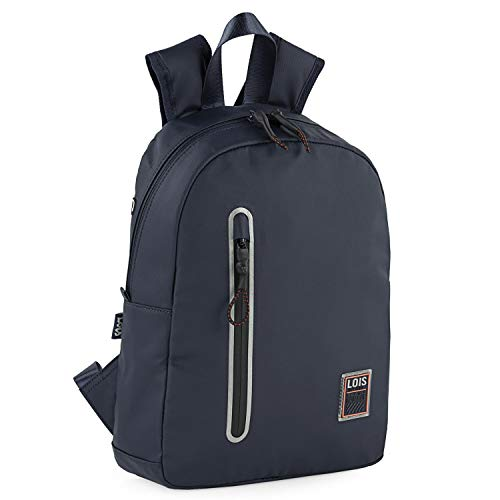 Lois - Casual Youth Sports Backpack Multifunctional Lightweight and Durable with Laptop Compartment for Daily Use University and Travel 309237, navy (Blue) - 309237