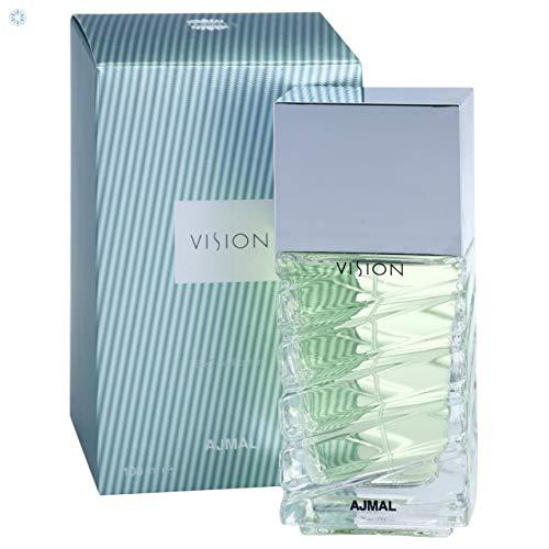 Vision by Ajmal 100ml EDP for Men Bergamot Lemon Violet Floral Woodsy Musk Perfume for Him