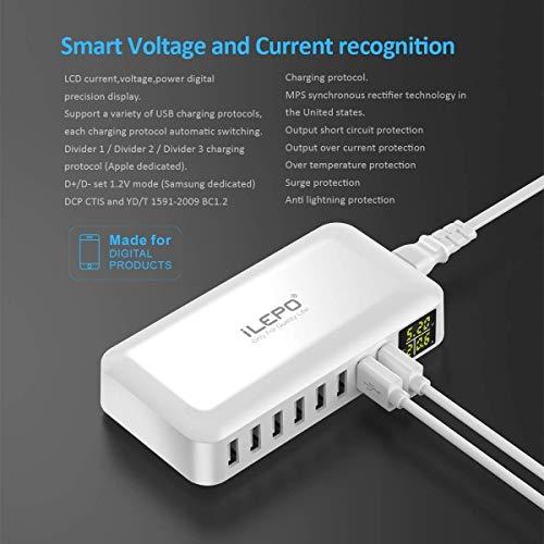 Fshark USB ladegeraet 40W 8A 8 Hafen USB Ladegerät mit LED-Anzeige Eingang 100-240V