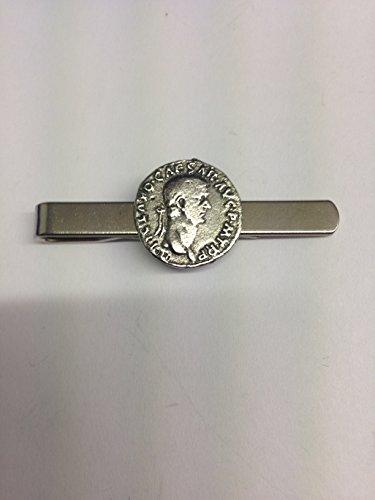 Claudius WE-C5 Moneda romana Inglés Peltre emblema en un clip de corbata (diapositiva)