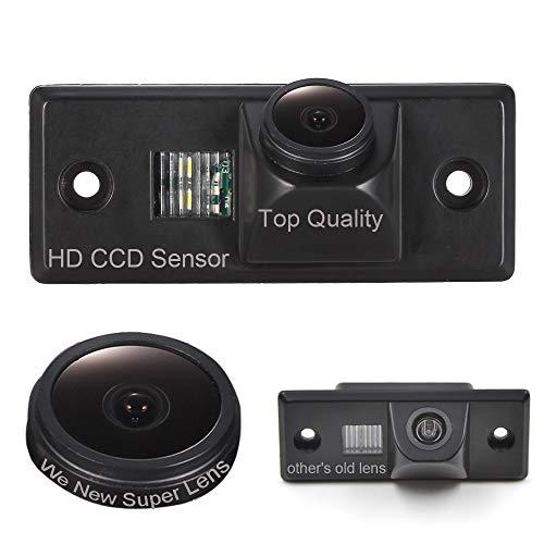 Dynavsal Auto Rückansicht Kamera 1280 * 720 Pixel 1000TV Linien HD Super Objektiv Wasserdicht Nachtsicht,Rückfahrkamera für VW Touareg/Tiguan Santana/Polo/Skoda Scirocco Fabia/VW Golf 4/5/6 Variant