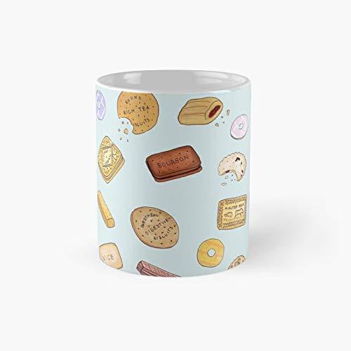 British Biscuits - Taza clásica con el mejor regalo, tazas de café divertidas, 11 onzas