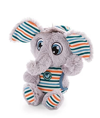 NICI Polino Dormilones 22cm – Tiernos pijama a rayas zoo – Peluche esponjoso para dormir, niños y bebés – Elefantes de juguete, gris/multicolor, color, 22 cm (47190)