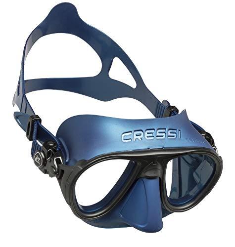 Cressi Erwachsene Calibro Tauchmaske, Blau Nery/Schwarz, Uni