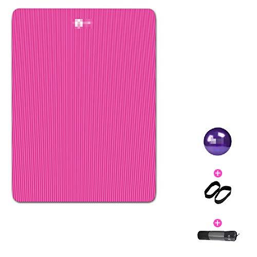 Ouder-kind dubbele yoga mat, verbreed en verdikt anti-slip sport fitnessmat, gemakkelijk schoon te maken, scheurvast, Pilates, yoga mat (200cm * 150cm * 15mm)