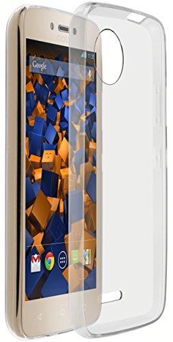 mumbi Hülle kompatibel mit Lenovo Moto C Plus Handy Hülle Handyhülle dünn, transparent, ultraslim transparent