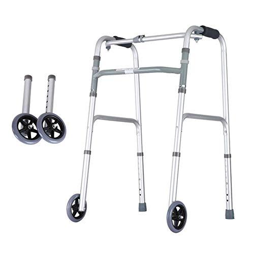 BSJZ Confíe en Caminar Andador para Personas Mayores Andador Andador Auxiliar Ayuda para fracturas Reposabrazos para Ancianos Pacientes discapacitados y obesos Marco