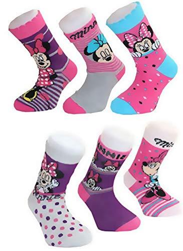 Minnie Mouse 6 Paar Socken Mädchen Strümpfe Gr.31/34 Kindersocken Kinderstrümpfe Disney LTB Minni Maus MEGAPACK SET 6 Stück