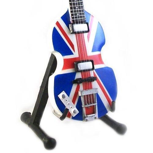 Eurasia1 Paul MC CARTNEY - Réplica HOFNER Bass Union Jack London 2012 - Guitarra en Miniatura Exclusiva