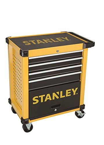 Stanley FatMax Werkstattwagen / Werkzeugwagen, Transmodul-System (mit 7 Schubladen, 2 Schlüsseln, bis 300kg Gesamtbelastbarkeit, mit 4 Rollen fest und schwenkbar, rutschhemmende Matten) STMT1-74305
