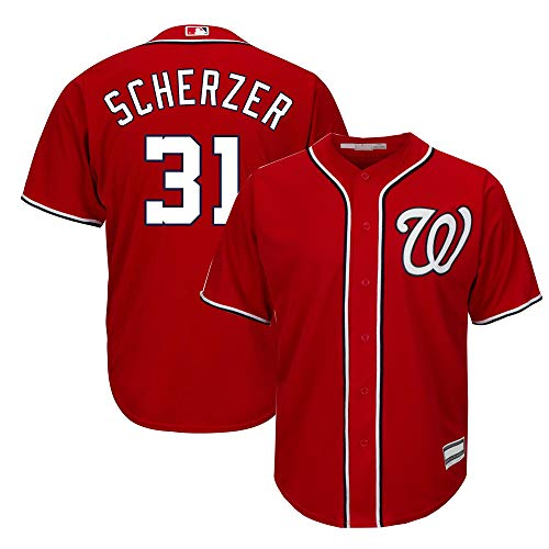 Max Scherzer Washington Nationals MLB Boys Youth 8-20 Player Jersey (Red Alternate, Youth Small 8)