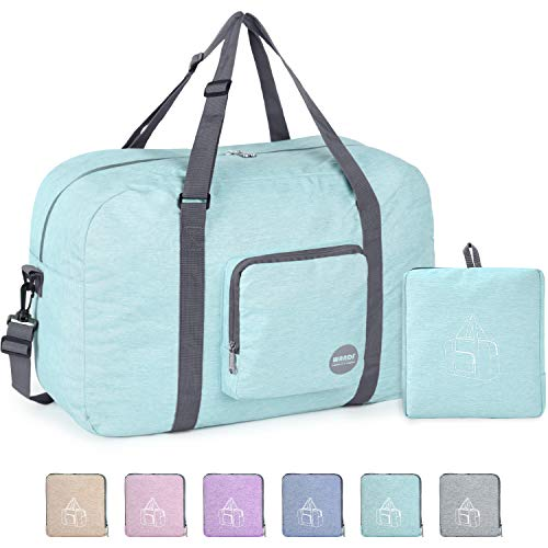 22' Foldable Duffle Bag 50L for Travel Gym Sports Packable Lightweight Luggage Duffel Water-resistant By WANDF (Light Mint Green 22', 22 inches (50 Liter))
