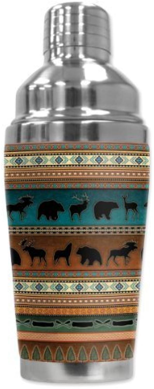Mugzie 1207-SHA  Indian Blanket    Cocktail Shaker with Insulated Wetsuit Cover, 16 oz, schwarz by Mugzie B01AJ301QU e5b8e1