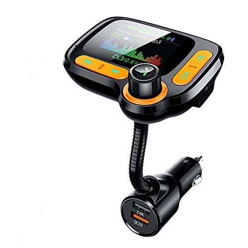 WonVon Car Bluetooth FM Transmitter MP3 Player QC3.0 BT 5.0 Handsfree Car Player Kit TF AUX Audio Receiver