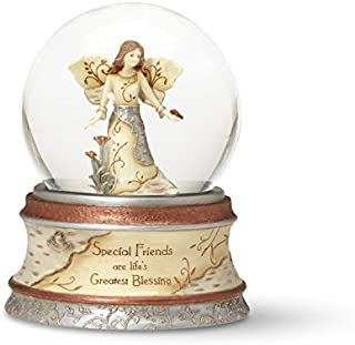 Pavilion Gift Company Elements Special Friends 100 mm Musical Waterglobe with Tune -Inch That's What Friends are for-Inch