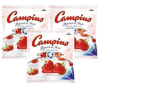 Campino Strawberry Yogurt and Fruit Hard Candies (3 pack)