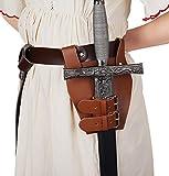 ClearUmm Medieval Leather Sword Dagger Frog Flintlock Case for Knight Assassin...