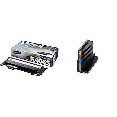 Samsung CLT-K406S/ELS - Tóner para CLP-360/365/ 368, CLX-3300/3305, negro + CLT-W406/SEE - Tóner depósito residuos